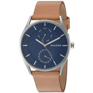 Skagen Men's SKW6369 'Holst' Multi-Function Brown Leather Watch