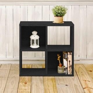 Clifton Eco 4-Cubby Bookcase Storage, Black LIFETIME GUARANTEE