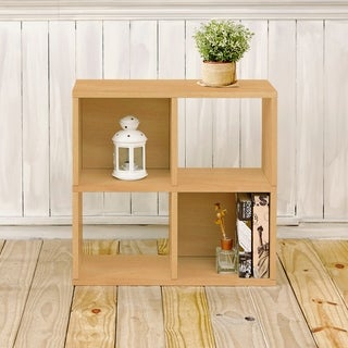 Clifton Eco 4-Cubby Bookcase Storage, Natural LIFETIME GUARANTEE