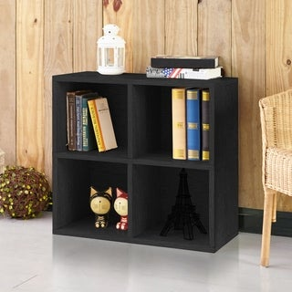 Clover Eco 4-Cubby Bookcase Storage, Black LIFETIME GUARANTEE