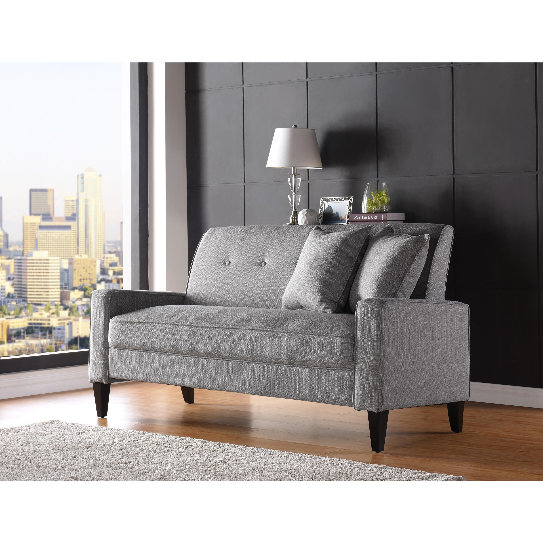Amazing Handy Living Courtney Dove Grey Linen Sofa