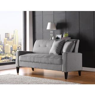 Handy Living Courtney Dove Grey Linen Sofa