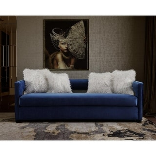 Kennedy Navy Velvet Sofa