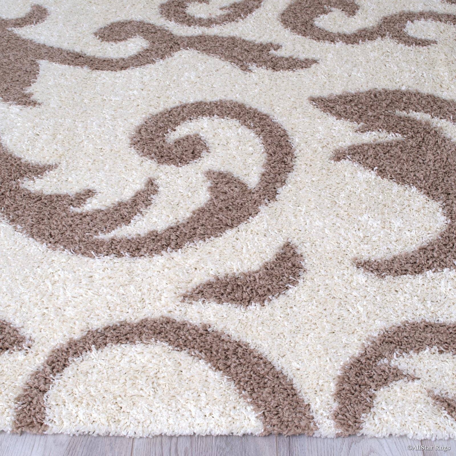 High Pile Posh Shaggy Paisley Printed Area Rug Overstock 16915103