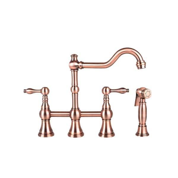 Kitchen Bridge Faucet in Antique Copper