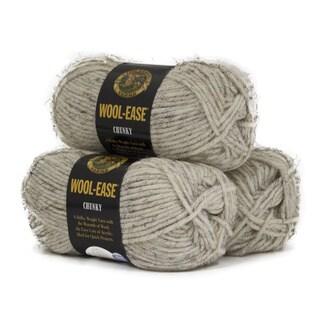 Lion Brand Yarn Wool Ease Chunky Wheat 630-402 3 Pack Classic Yarn