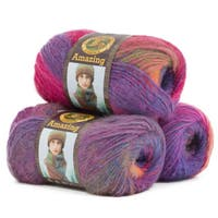 Lion Brand Yarn Amazing Mauna Loa 825-212 3 Pack Fashion Yarn