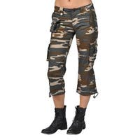 Women's 9 Pocket Tri-Color Camo Capri Pants