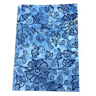 Handmade Blue Leaf Soft Journal (India)