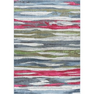 Alise Rugs Arietta Collection Contemporary Stripe Area Rug (7'10 x 10'3)