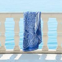 Superior 100% Premium Cotton Medallion Indie 60-inch Round Beach Towel
