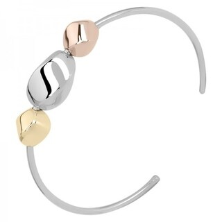 Sterling silver Bracelet with gold palted details -one size