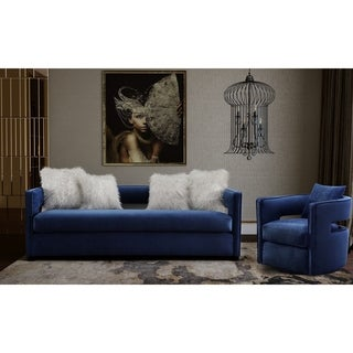 Kennedy Navy Velvet Sofa Set