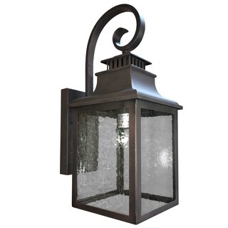 Y-Decor 1 Light Outdoor Wall Mounted Light In Rustic Finish