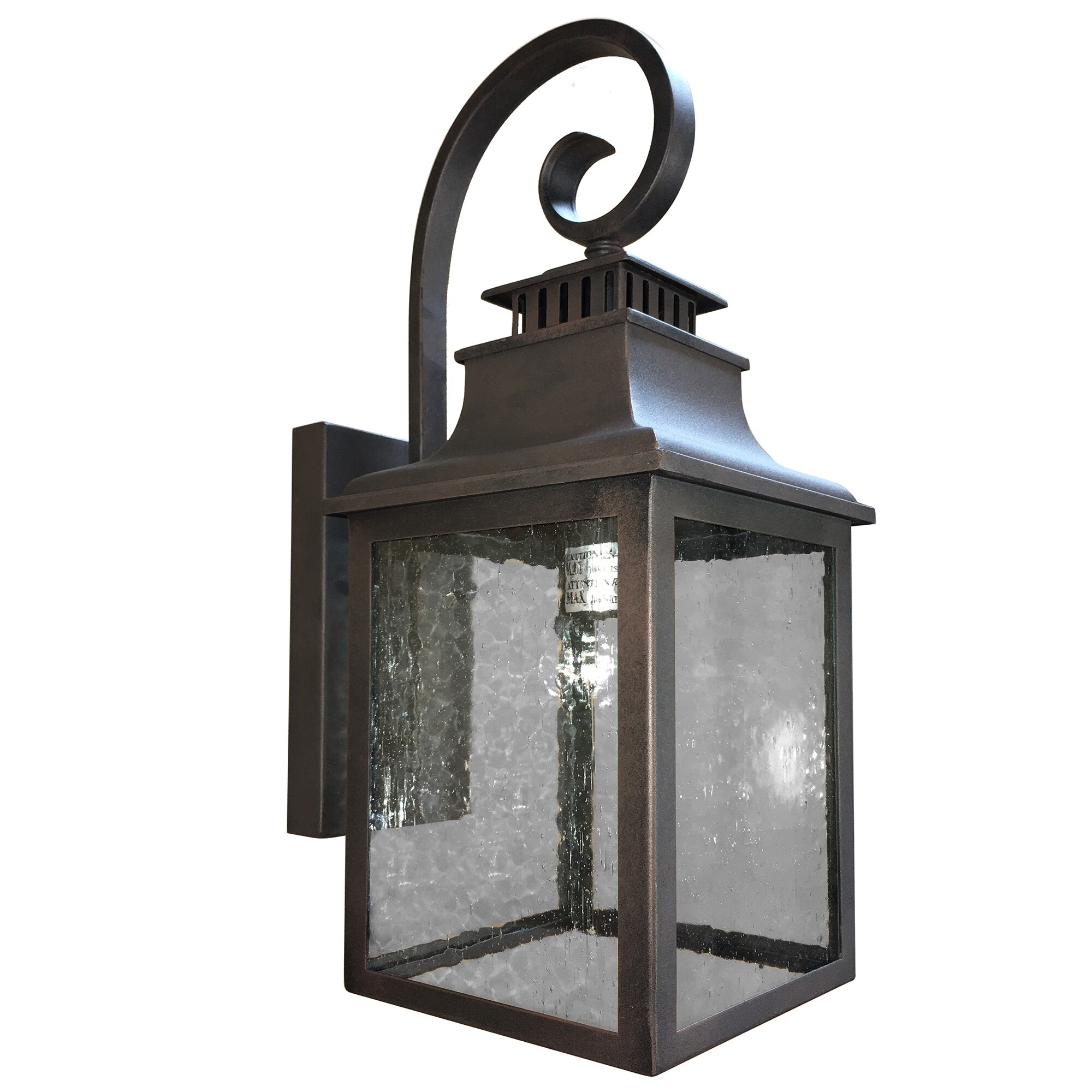 Shop Black Friday Deals On Aa Warehousing 1 Light Outdoor Wall Mounted Light In Rustic Finish Overstock 16915823