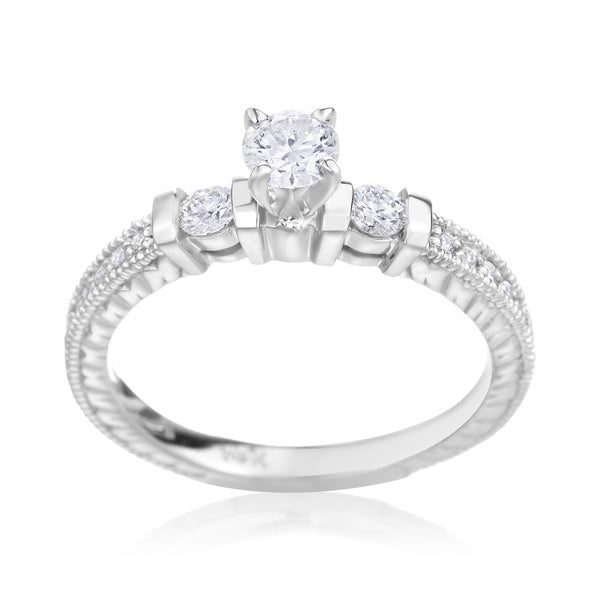 SummerRose 14k White Gold 1/2ct TDW Diamond Enagagement Ring