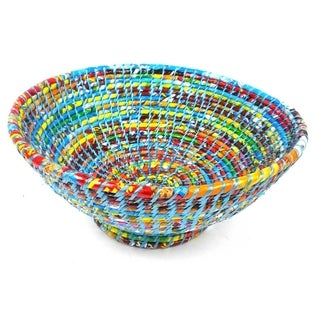 Upcycled Medium Blue Wrapper Bowl (Nepal)