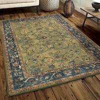 Carolina Weavers Boho Vintage Bohemian Nomad Green Area Rug (5'3 x 7'6)