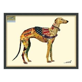 Greyhound Dimensional Art Collage