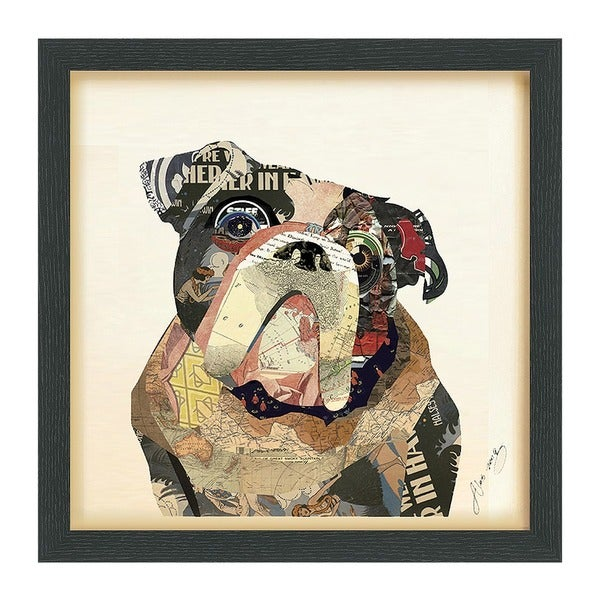 Shop Empire Art \'English Bulldog\' Hand Made Signed Art Collage by ...