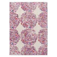 Kavka Designs Dots Moroccan Pink Area Rug ( 5'X7' ) - 5' x 7'
