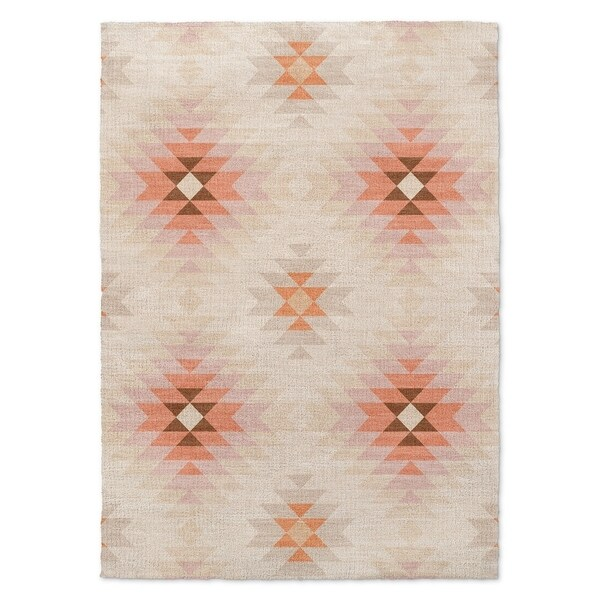 Kavka Designs Roseau Beige/ Tan/ Orange Area Rug ( 5'X7' ) - 5' x 7'