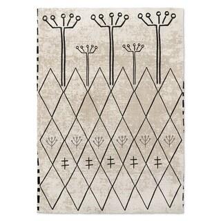 Kavka Designs Fenassa Black/ Ivory Area Rug ( 5'X7' ) - 5' x 7'