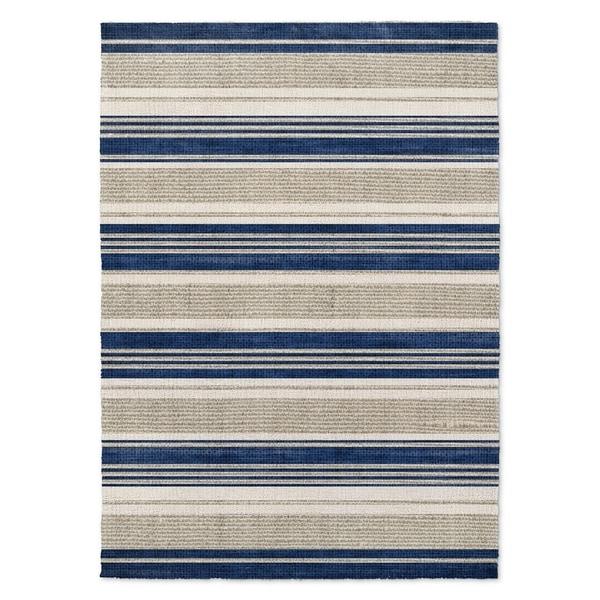 Kavka Designs Chatham Blue/ Grey Area Rug ( 5'X7' ) - 5' x 7'