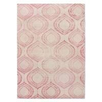 Kavka Designs Pink Boho Pink Area Rug ( 5'X7' ) - 5' x 7'