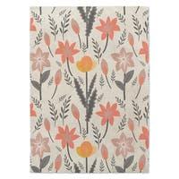 Kavka Designs Bunny Love Trois Grey/ Blush/ Pink Area Rug ( 5'X7' ) - 5' x 7'