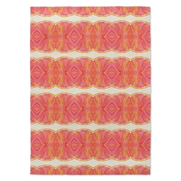 Shop Kavka Designs Sidra Pink Orange Area Rug 5 X7 5 X 7