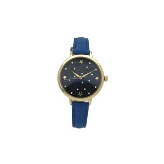 Olivia Pratt Women's Night Sky Leather Watch
