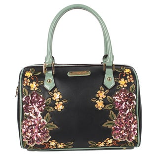Boston Sequin Floral Black Shoulder Bag