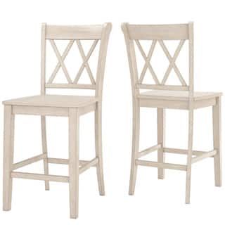 White Wood Counter Bar Stools Online At