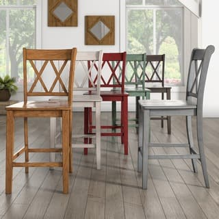 Eleanor X Back Wood 24 in. Counter Chair (Set of 2) by iNSPIRE Q Classic|https://ak1.ostkcdn.com/images/products/16916343/P23208099.jpg?impolicy=medium
