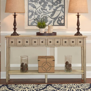 Powell Sadie Cream-colored Long Console Table