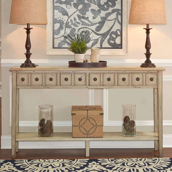 Long Sofa Table: Shop Powell Sadie Cream-colored Long Console Table