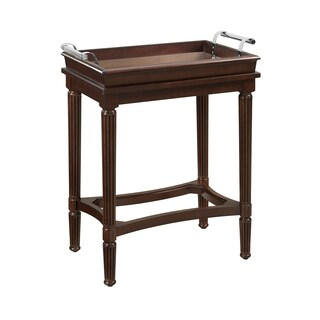 Powell Masterpiece Mia Cherry Wood Serving Tray Table