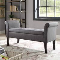 Linon Ivy Charcoal Storage Bench Deals