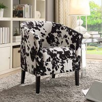 Kacey Black Cow Print Club Chair