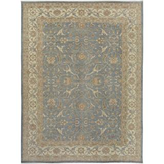Arshs Fine Rugs Kafkaz Peshawar Emerson Grey Wool Hand-knotted Rug - 9' x 12'