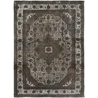 Arshs Fine Rugs Silas Grey/Grey Wool Hand-knotted Vintage Rug (7'8 x 11'0)