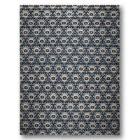 Peshawar Antique-finish Hand-knotted 200 KPSI Area Rug - 9' x 12'