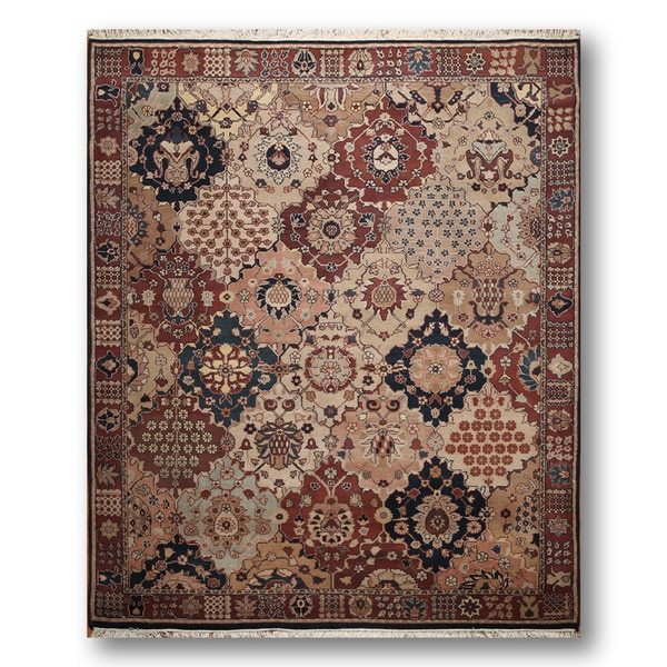 Shop Beige Wool Hand Knotted Oriental Persian Area Rug 6: Shop Ornamental Persian Oriental Hand-knotted Beige/ Rust