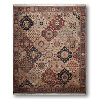 Ornamental Persian Oriental Hand-knotted Beige/ Rust Wool Area Rug (8' x 10')