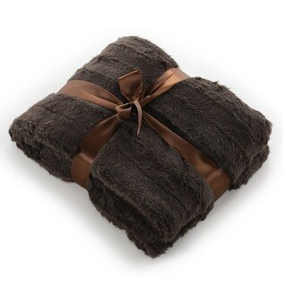 Cheer Collection Faux Fur Cape Blanket - 67 x 25