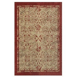 The Rug Market Heritage Red Acrylic Area Rug (8' x 10')