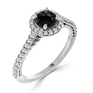 Auriya 10K Gold 3/4ct TDW Black Prong Diamond Engagement Ring