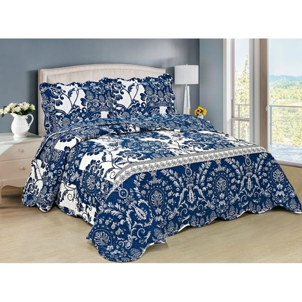 Blue Emblem 3-piece Bedspread Set