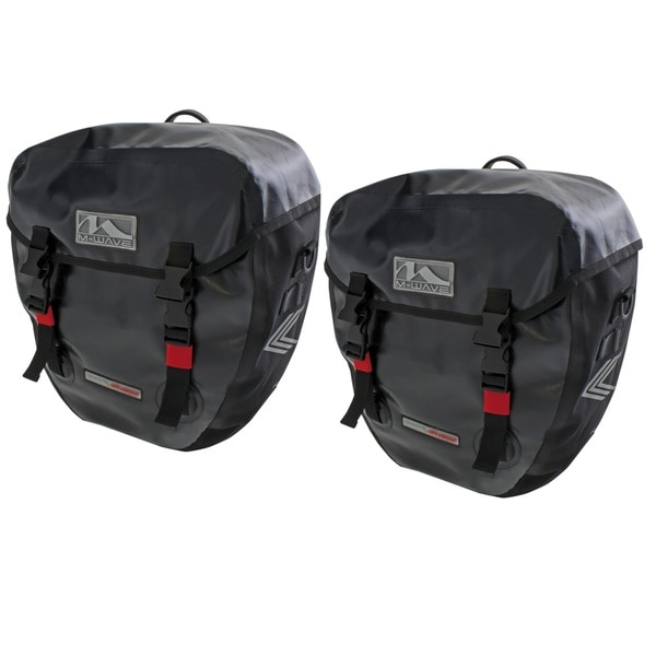 Ventura Canada Pro Black Nylon Side Bags (Set of 2)